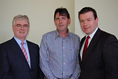 With Eamon Gilmore and Nenagh Candidate Lalor McGee