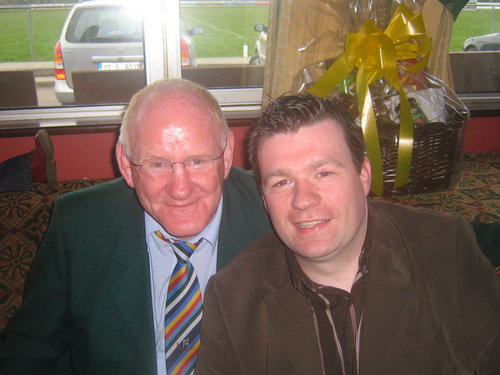With Cllr Gerry McLoughlin - The man sho had the English pack on his back!
