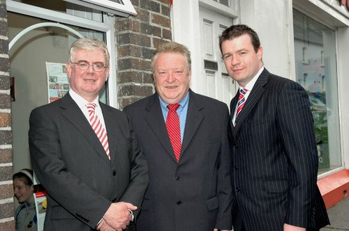 At the Opening of my Roscrea Office with Party Leader Eamon Gilmore and Tommy Murphy
