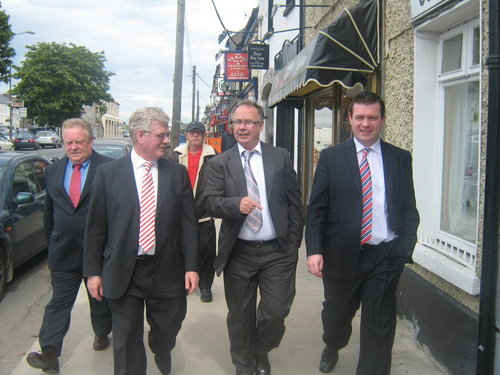 Campaigning in Templemore with Des Hanna, Tommy Murphy and Party Leader Eamon Gilmore