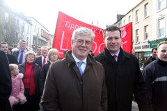 With Eamon at the Nenagh Hospital March