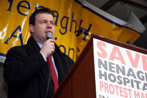 Addressing the Crowd at the Nenagh Hospital March