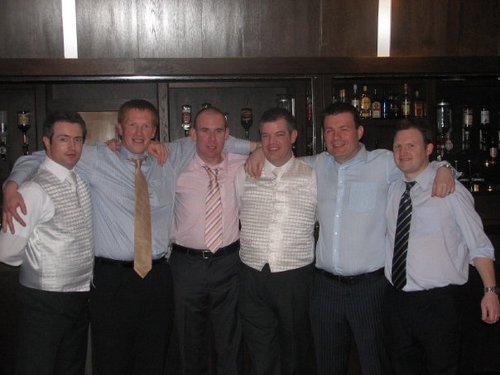 The Lads at Gregs Wedding