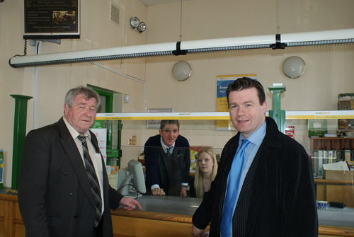 At Cahir Post Office with Cllr Seanie Lonergan
