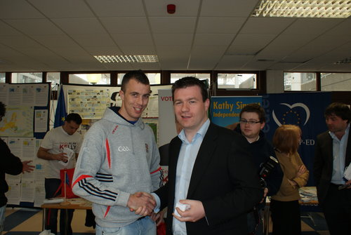 With Paul O'Flynn in CIT