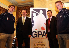 With GPA CE Dessie Farrell, Tipp's Tom Stapleton and Limerick's Seamus Hickey