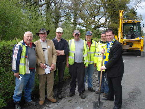 With the Council Workers in Riverstown
