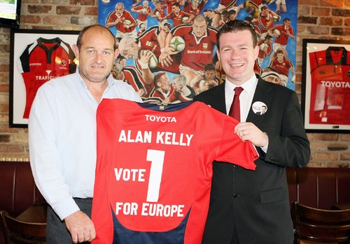 Alan Kelly with Peter Clohessy