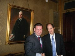 With Cass Sunstein - Head of Information and Regulatory Affairs in White House
