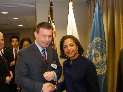 With Susan Rice US Ambassador to the United Nations