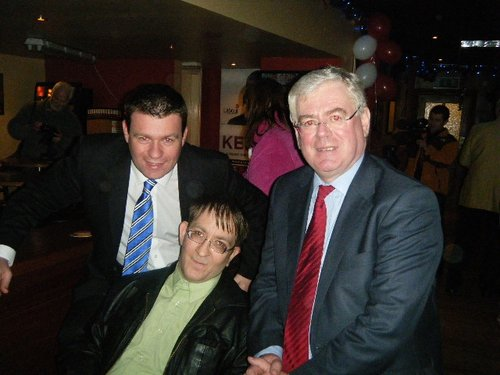 Pictured with my friend Derek Spaight and Party Leader Eamon GIlmore