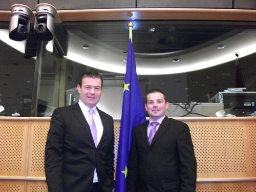 With Cllr Jonathan Meaney in the European Parliament