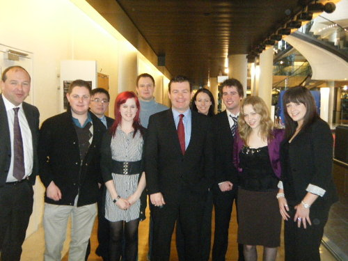 With UCC Students in European Parliament