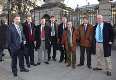 MEP Alan Kelly with Dell Workers at Oireachtas