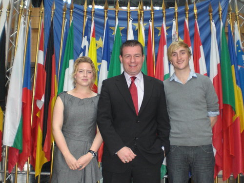With Strasbourg Interns Edel and David