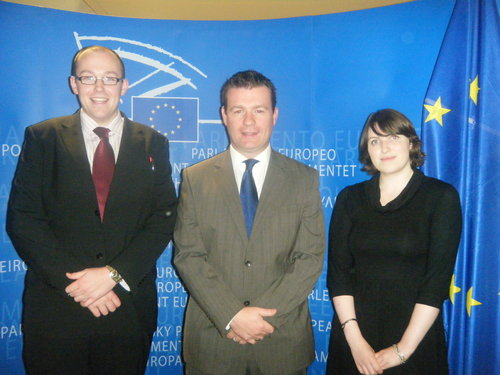 Alan with Brussels Interns Colm and Aisling