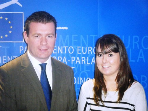 Alan and Brussels Intern Sarah Crowe