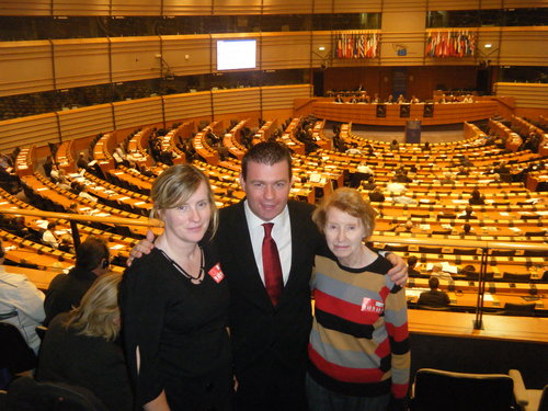 Alan with Angela Butler and Brigid Maher