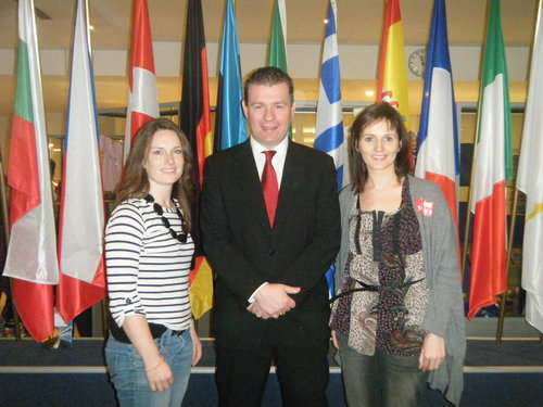 Alan with Gillian and Aoife