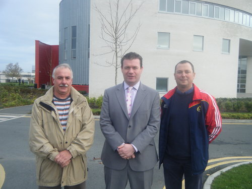 Alan with Waterford Crystal Workers