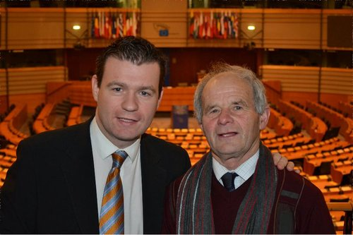 Alan and Seamus Dooley in EU Parliament