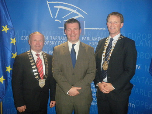 Alan Kelly MEP Welcomes Two Kerry Mayors to Brussels