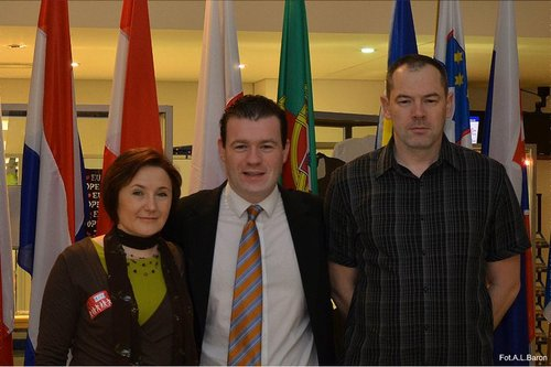 Alan with the Barons From Nenagh in The European Parliament