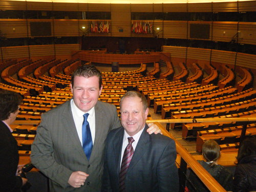 With Paddy Downey From Cashel in European Parliament