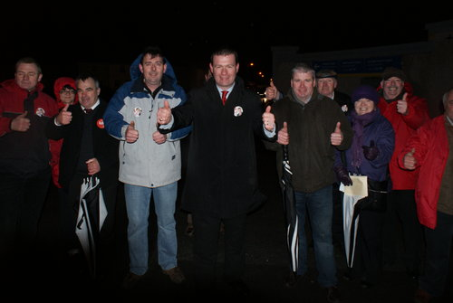 Canvassing Outside Semple Stadium