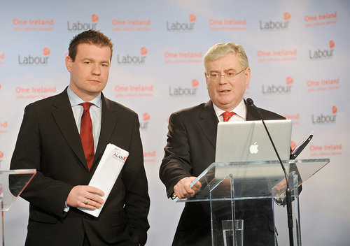With Eamon at Launch of Labours Broadband Policy
