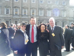 With Regina and My Parents on First Day in Dail