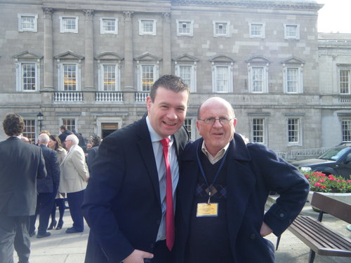 With the Great Johnny Whelan on First Day in Dail