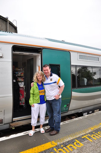 With Cllr Virginia O'Dowd at the All-Ireland Special Train