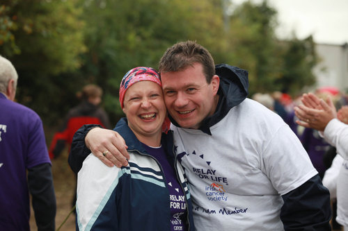 Noelle Clancy and Alan Kelly at Relay for Life