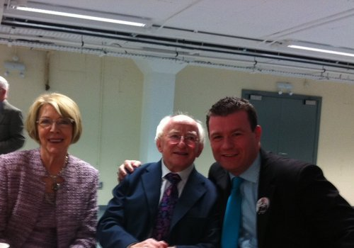 With the President Elect Michaal D. Higgins and his wife Sabina in Dublin Castle