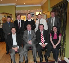 Gas Committee - Nenagh Gas Committee met with Minister for Energy, Communications and Natural Resources in July, back row left to right Donncha Haverty HKPB Scientific, Marcus O'Connor Nenagh Town Manager, John Conroy Proctor & Gamble, Matt Muller Abbey Court Hotel, Conor Ryan Arrabawn Co-op, Front left to right Don O'Brien ABP Ireland, Pat Rabbitte TD Minister for Communications, Energy and Natural Resources, Myself and  Clodagh Cavanagh Abbey Machinery